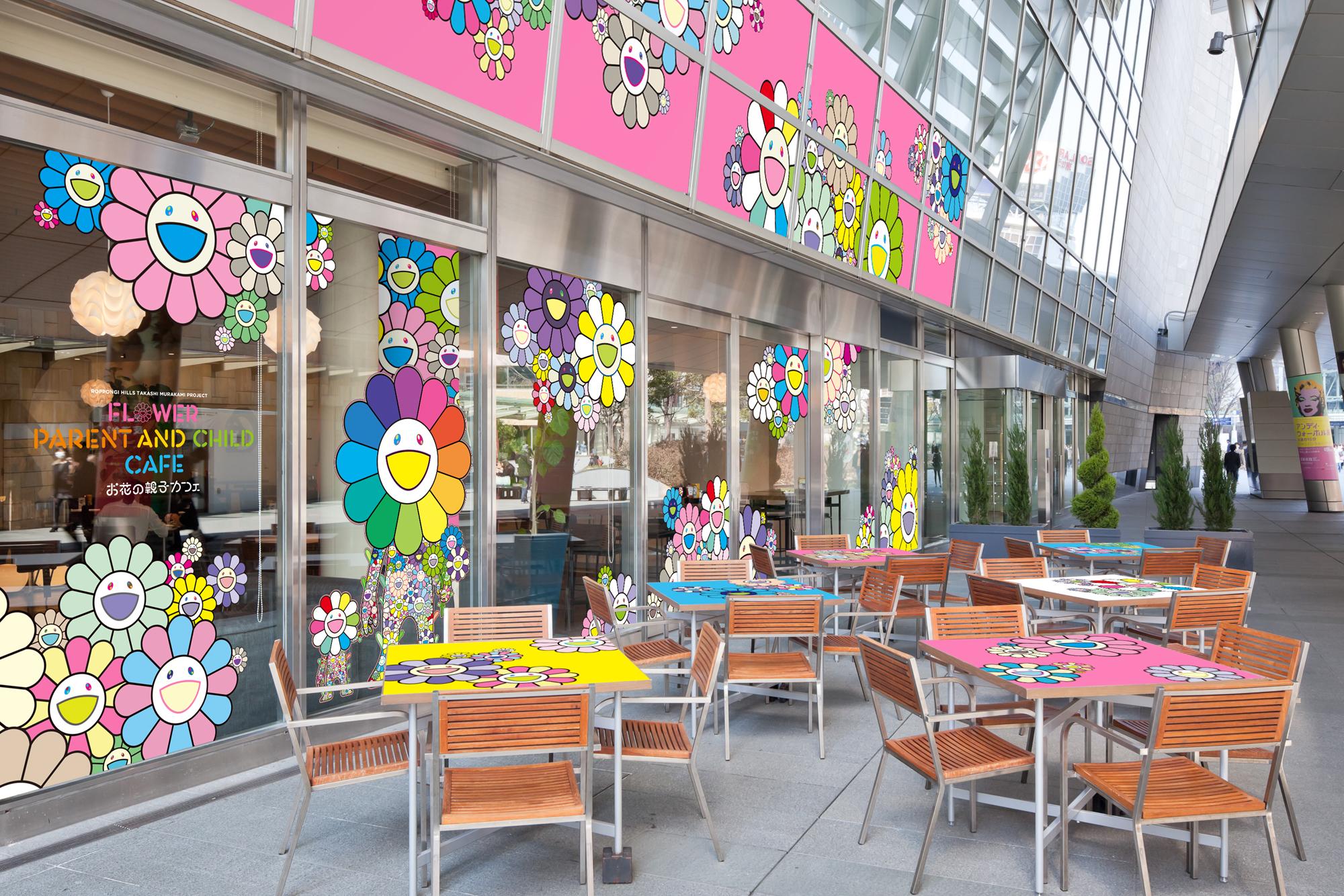 六本木ヒルズに「お花の親子カフェ」が3月5日より期間限定オープン、村上隆の限定商品を扱う特設ショップも併設