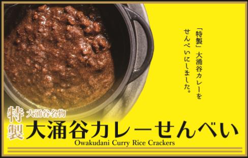 《箱根》 大人気の大涌谷カレーが「カレーせんべい」になって新登場