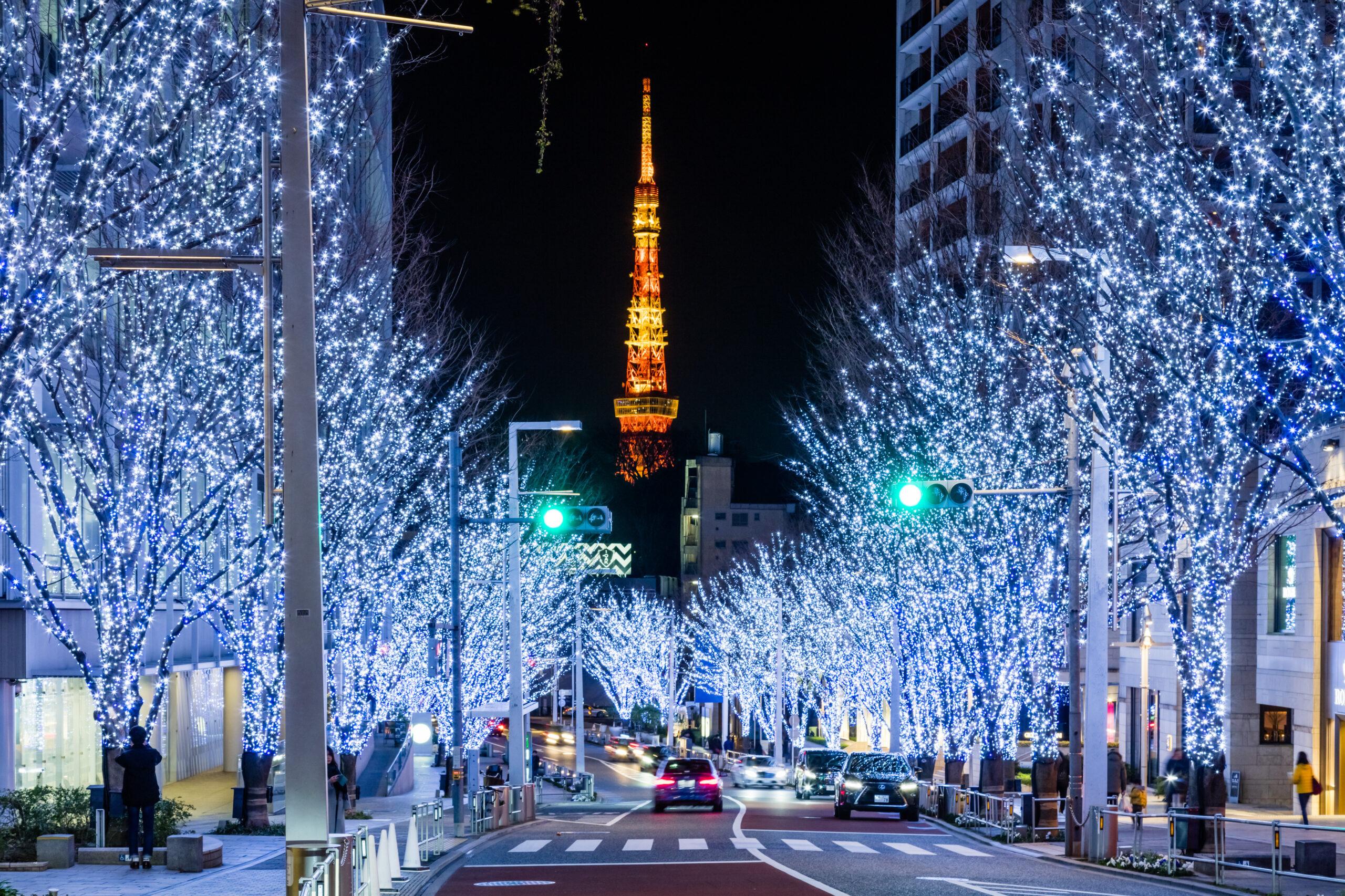 2021年の「六本木ヒルズ けやき坂イルミネーション」は11月上旬から12月25日(土)に開催
